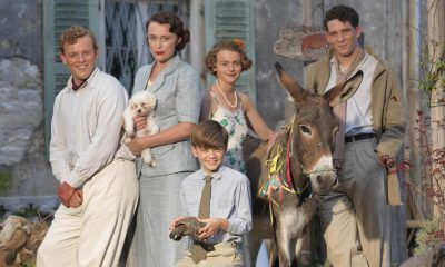 SID GENTLE PRODUCTIONS FOR ITV THE DURRELLS Pictured:CALLUM WOODHOUSE as Leslie Durrell, KEELY HAWES as Louisa Durrell, MILO PARKER as Gerry Durrell,DAISY WATERSTONE as Margo Durrell and JOSH O'CONNOR as Larry Durrell. This image is the copyright of ITV and must only be used in relation to THE DURRELLS.